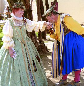 Teri and Ron Krawitz pose in character at the Arizona Renaissance Festival.
